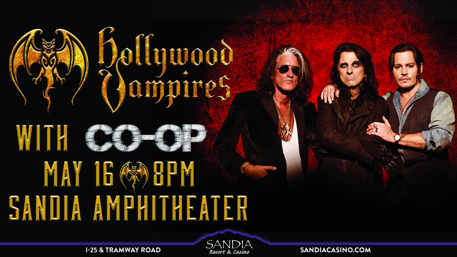 Hollywood Vampires with CO-OP Band Rock Metal Concert Live ALBUQUERQUE